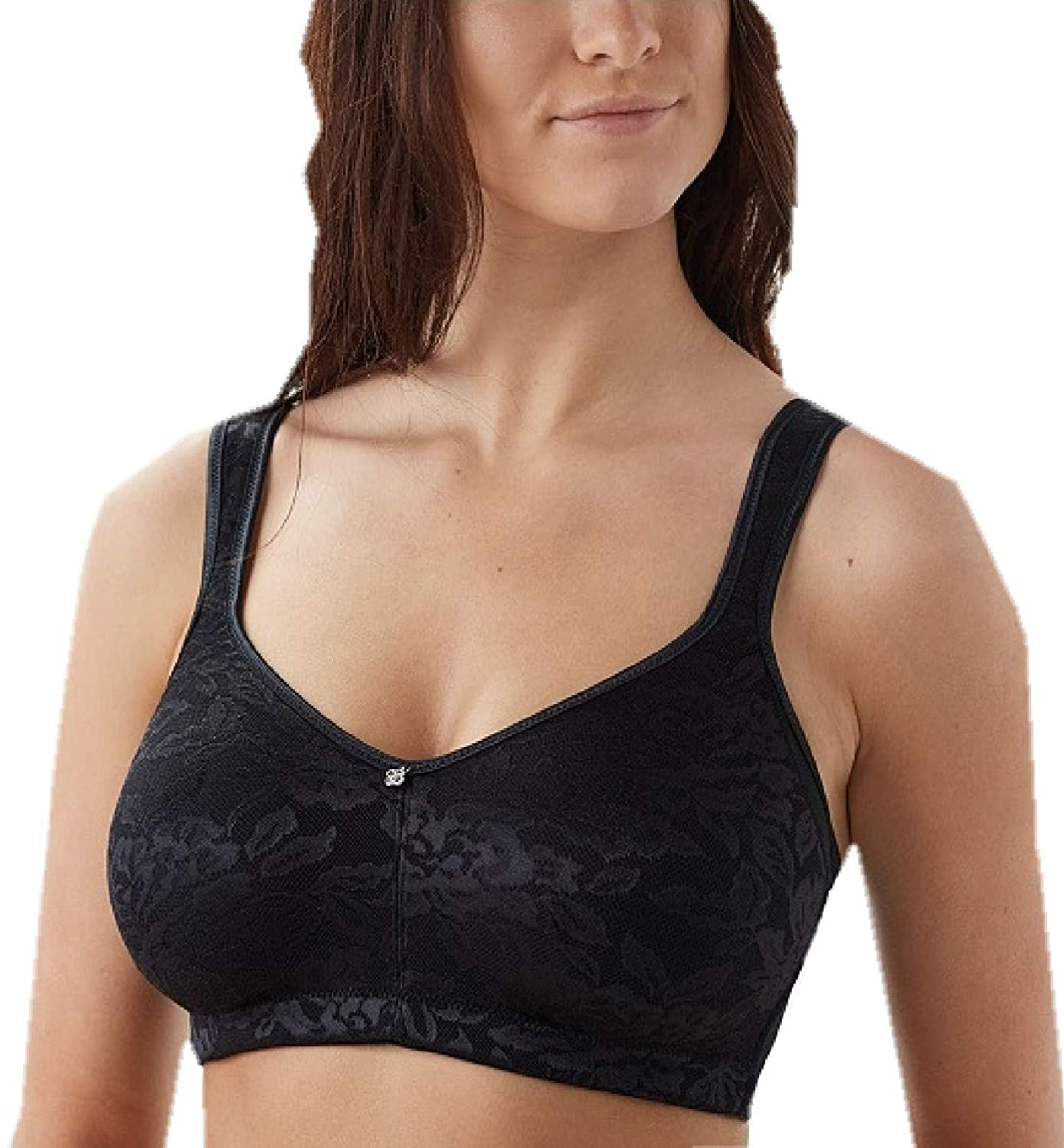 0a9d091a6 Breezies Seamless Floral Side Smoothing Unlined Wirefree Bra at Amazon  Women s Clothing store