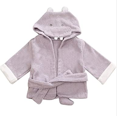 Terryws New Baby Bathrobe Children Kids Cartoon Baby Towel Bath Robe Baby Homewear Boys Girls Hooded