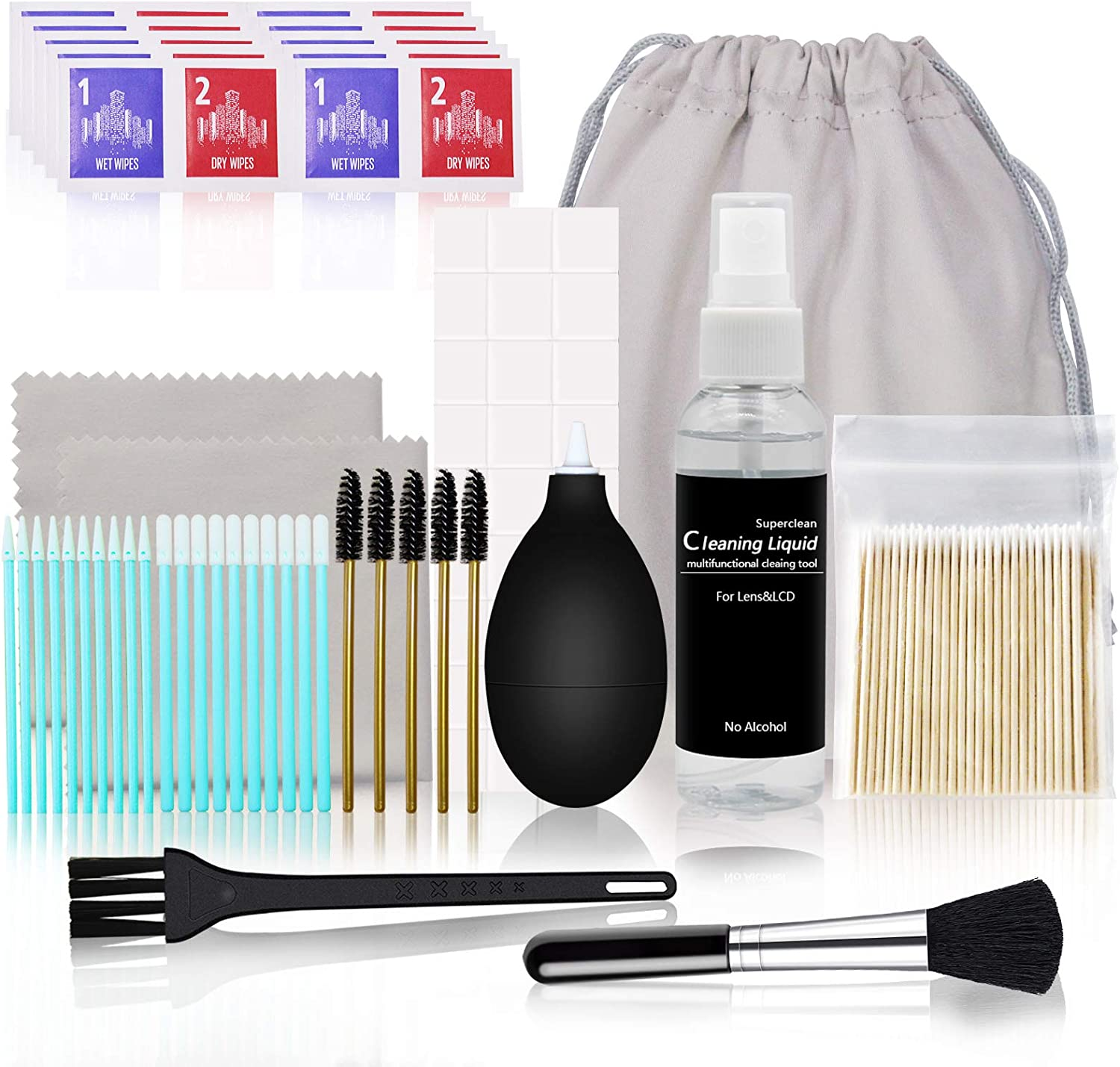 Updated 143 Pcs Cleaning Kit, Professional Cleaner Tool Set for Airpods Screen and Other Electronic Devices, Compatible with Airpods/Airpods pro/Earphones/Smartphones