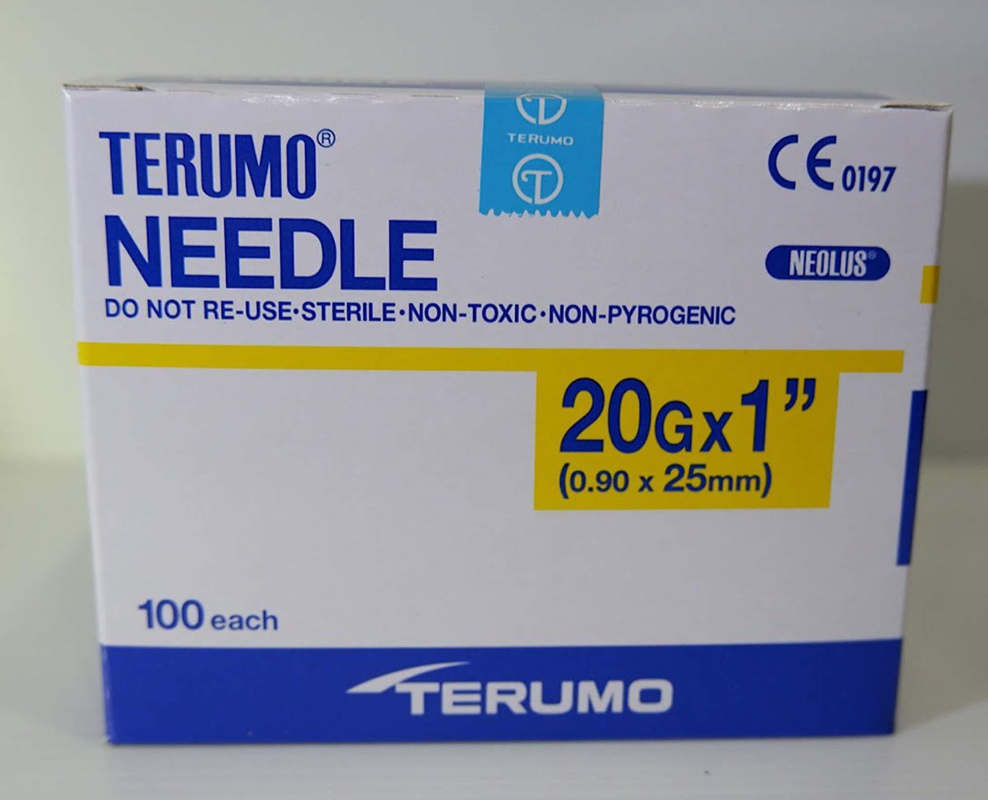Terumo 20G x 1'' (0.90x25mm) 100 Each/Pack
