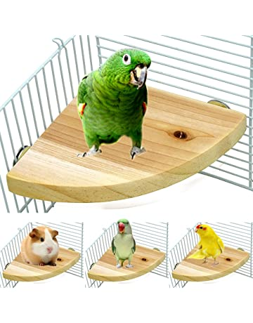 Bird Supplies Pet Products Pet Bird Platform Stand Rack Rectangle Squirrel Cage Colorful Wooden Plate Toys Small Bird Toy Drop Ship
