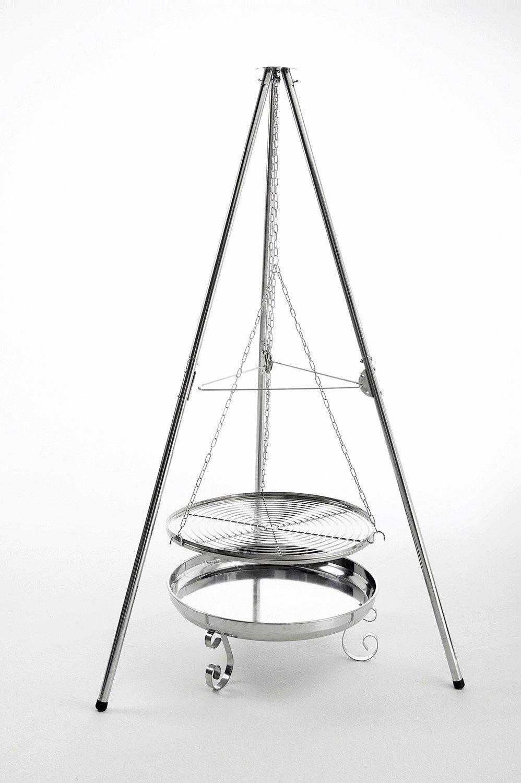 Landmann Holzkohle-Schwenkgrill, Silber, 120 x 104 x 201 cm