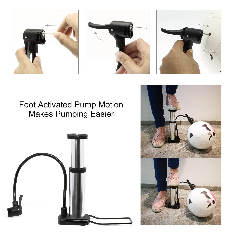 Basketball, Soccer Ball, Football, Volleyball and More Actvivid Hand Air Pump for Sports Balls