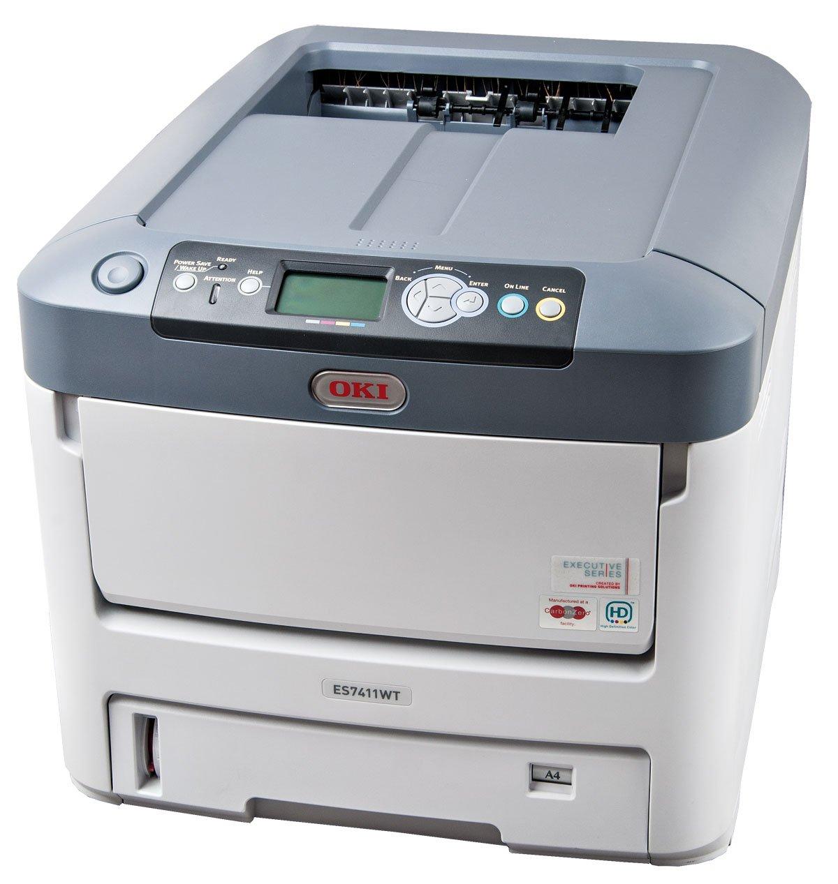 OKI ES7411WT - Impresora láser (1800 x 600 dpi, Postscript 3, LED ...