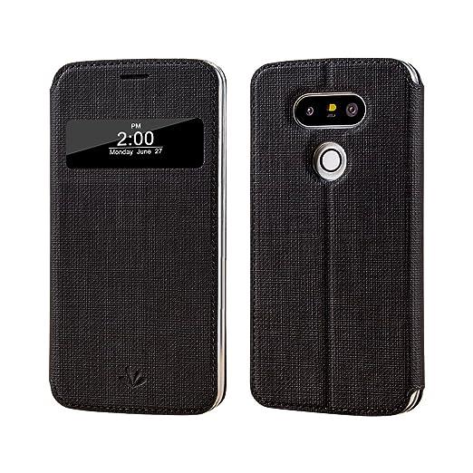 12 opinioni per LG G5Custodia, LG G5Smart Cover, Meiya Premium PU Pelle Flip Cover finestra