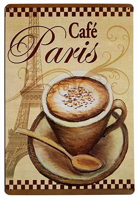 JIA KOAH Paris Cafe Bar Cartel De Pared De Hojalata Retro ...