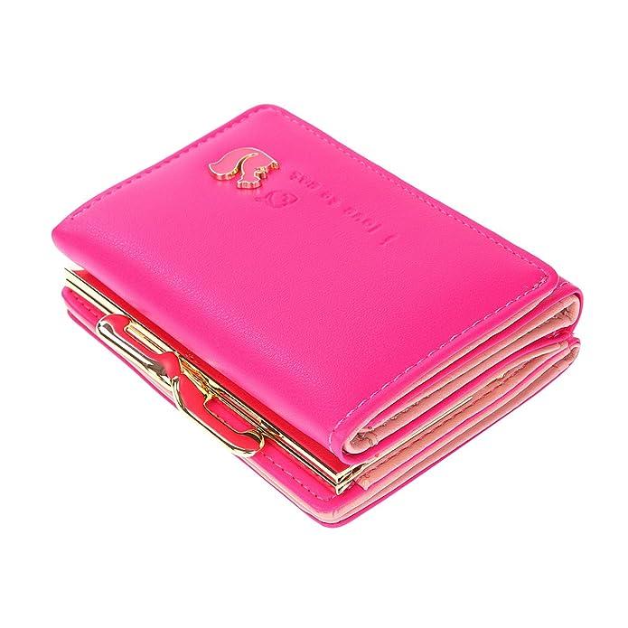 46dfef1966 Damara Donna Mignon ragazza a portafoglio in finta pelle Scoiattolo Rosa  rosa: Amazon.it: Scarpe e borse
