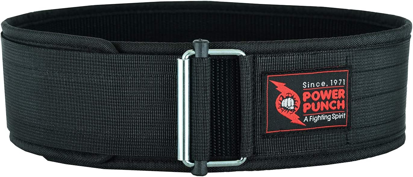Lifting Belt for Men and Women POWER PUNCH Weight Lifting Belt Squats Gym Deadlifts Crafted for Perfect Back Support During Workouts Self-Locking Suitable for Powerlifting