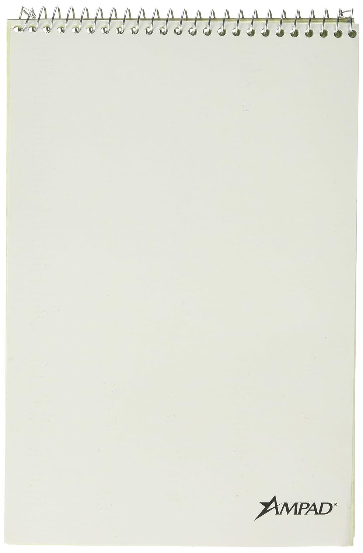"TOPS Steno Book 80 Sheet Gregg Ruled 6/""/"" x 9/""/"" Green Tint Paper"