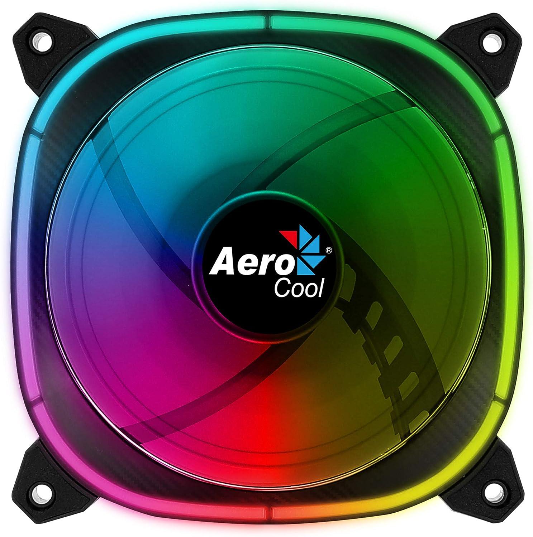 Aerocool ASTRO, ventilador PC 12 cm, 18 LED RGB, 6 pines