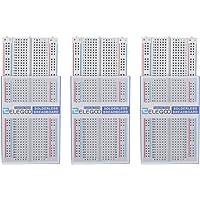 ELEGOO 3pcs Breadboard Carte d'Expérimentation 400 Points Platine d'Essai PCB sans Soudure pour Arduino et Raspberry Pi