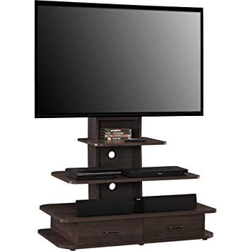 Ameriwood Home Galaxy Tv Stand With Mount And Drawers For Tvs Up To 70 Wide Espresso