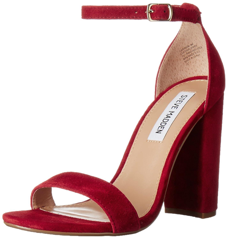上品なスタイル Steve Madden 5.5 Womens Carrson Open M Toe Special Occasion Suede US Ankle Strap Sandals B01EYXA2KG 5.5 M US ダークレッド ダークレッド 5.5 M US, 赤穂市:7cf9be30 --- yelica.com