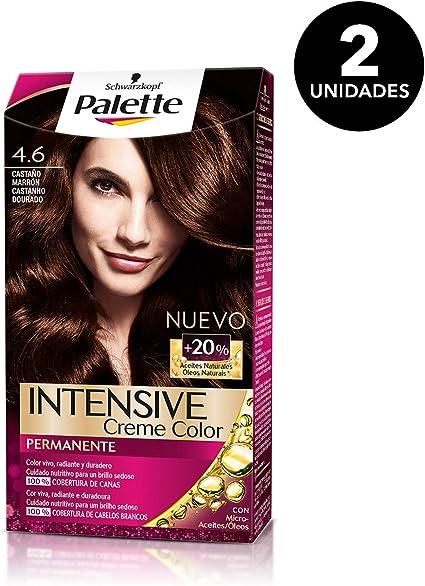 Palette Intense - Tono 4.6 Castaño Marrón - 2 uds ...