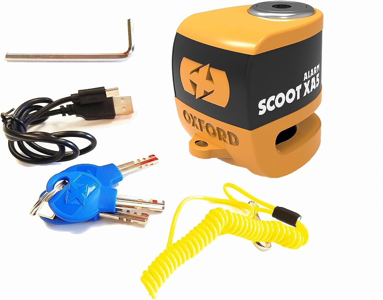 Honda Pcx125 Oxford SCOOT XA5 Alarm Disc Lock Security Motorcycle Orange LK288