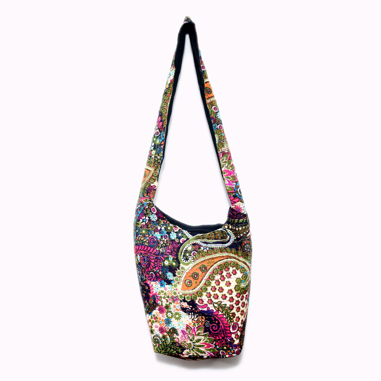 Decor Tales Indian Handicraft Ethnic Hippie Bag Crossbody Bag Shoulder Cotton Bag Handmade Monk Bag