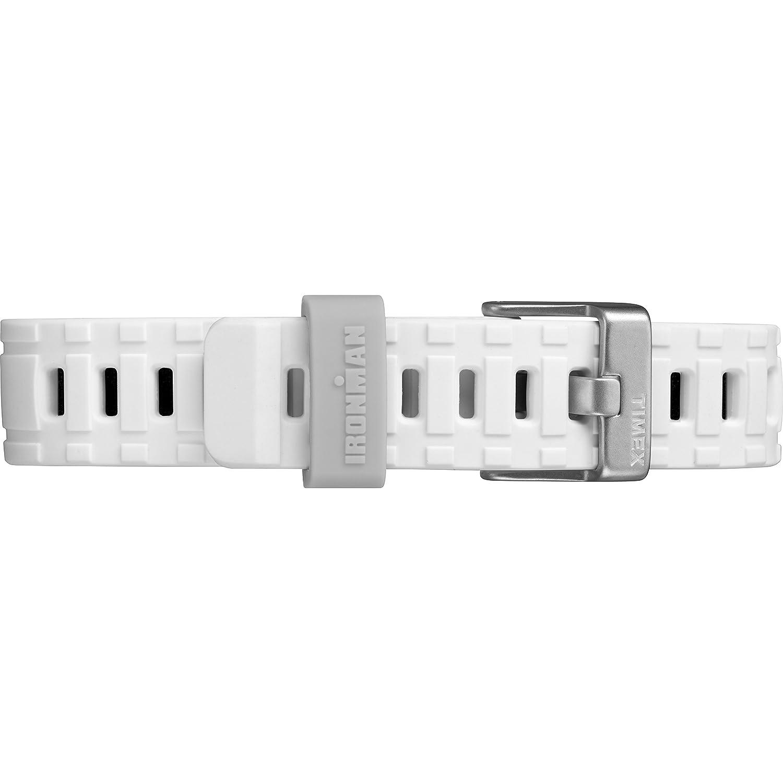 Amazon.com: Timex TW5M17400 Ironman Essential Urban Analog 38mm White/Blue Silicone Strap Watch: Watches