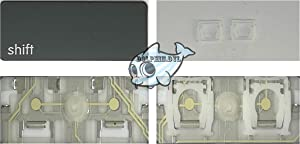 Dolphin.dyl(TM) Replacement Individual Key for US MacBook Pro A1278 A1286 A1297 2011-2012(Key Cap with Hinge) (Left Shift)