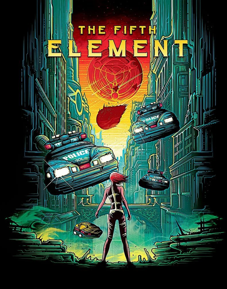 Kirbis The Fifth Element Movie Poster 18 x 28 Inches
