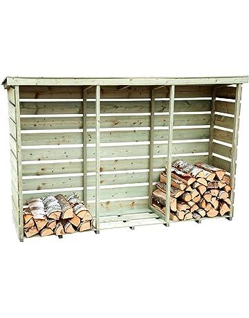 Charles Bentley abeto nórdico de servicio pesado de jardín de madera grande Presión Triple registro del