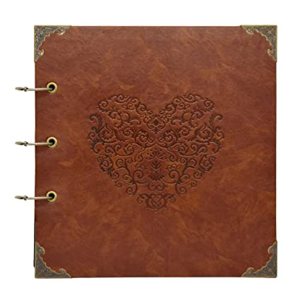 Barsone Heart Scrapbook Albumleather Diy Personalized Photo Album