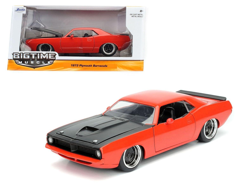 descuento de ventas en línea Jada Juguetes 1 24 Scale Model Coche 98236 - 1973 1973 1973 Plymouth Barracuda - rojo  promocionales de incentivo