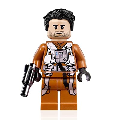 LEGO Star Wars Rise of Skywalker Minifigure - Poe Dameron (Pilot Jumpsuit and Blaster) 75102: Toys & Games