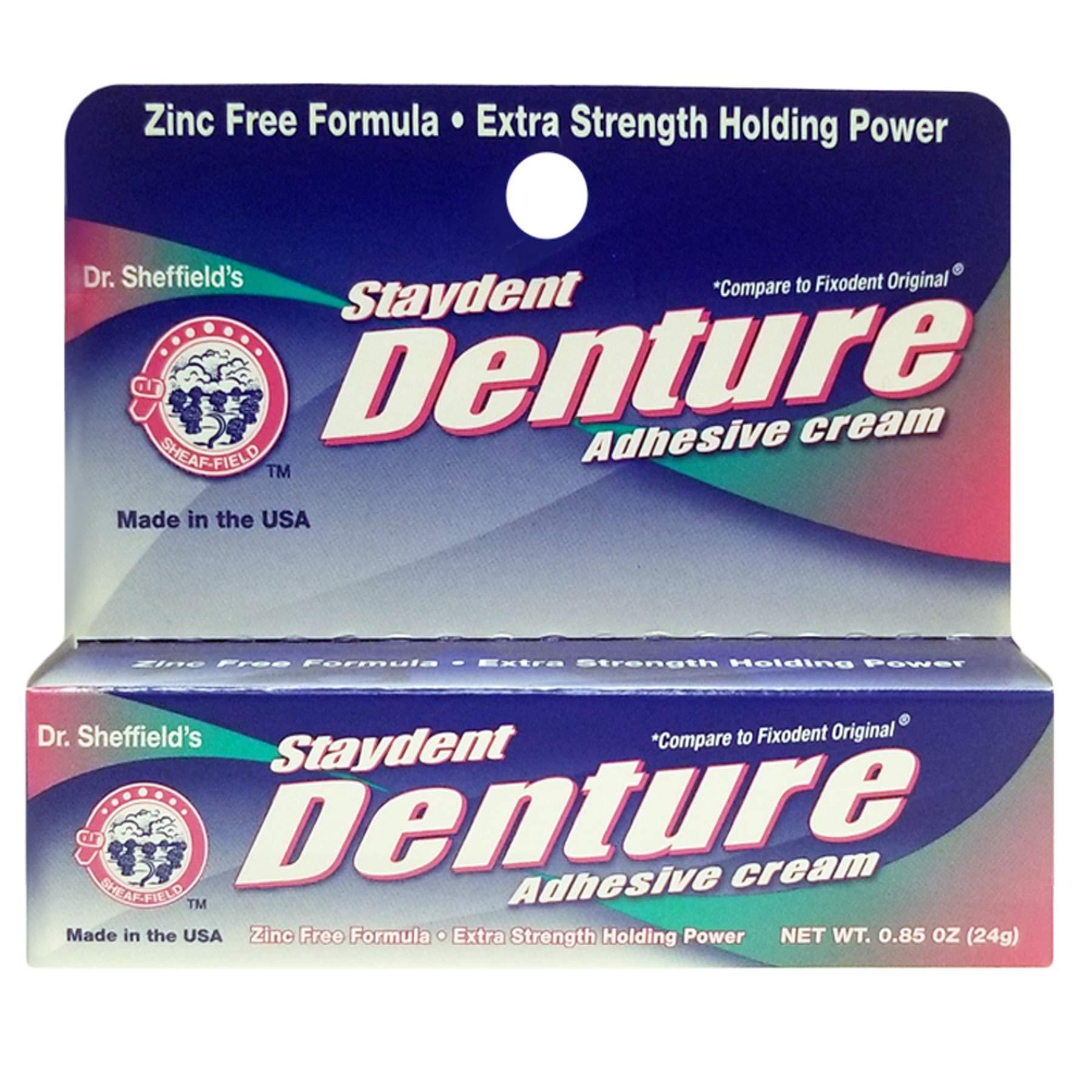 (Pack of 24) Staydent Denture Adhesive Cream 0.85oz