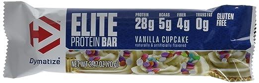 Dymatize Elite Protein Bar, Vanilla Cupcake, 12 Count