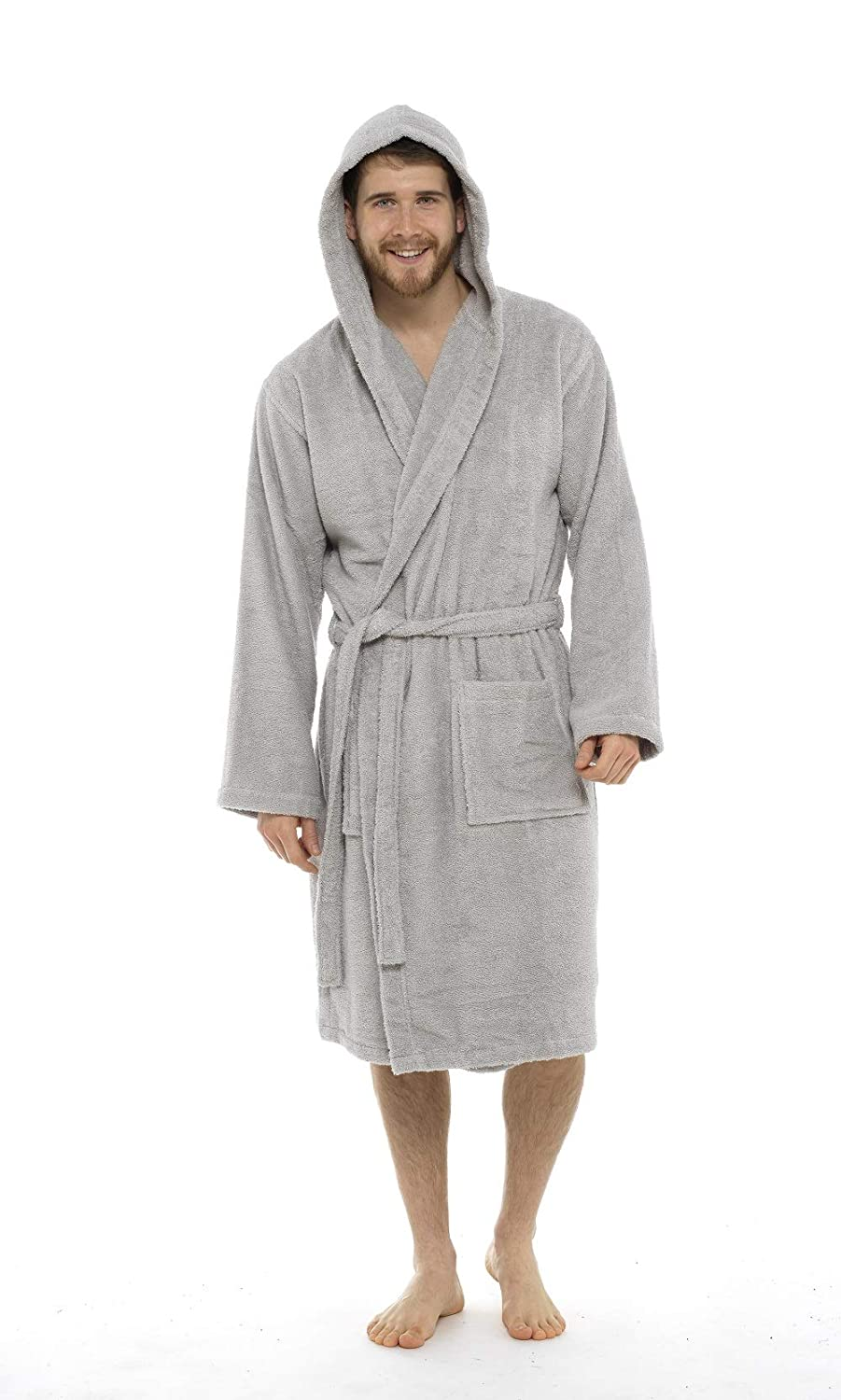 Men Towelling Robe 100% Cotton Terry Towel Shawl Collar Bathrobe Dressing  Gown Bath Robe Perfect for Gym Shower Spa Hotel Holiday  Amazon.co.uk   Clothing bf09fbf13