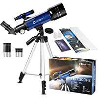 Telescope for Kids Beginners Adults, 70mm Astronomy Refractor Telescope with Adjustable Tripod - Perfect Telescope Gift…