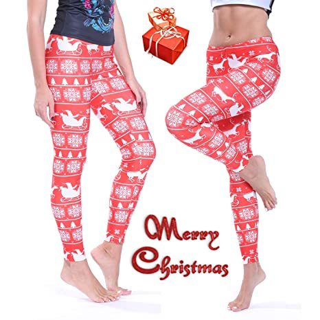 db402347896a88 Image Unavailable. Image not available for. Color: RIOJOY Christmas Leggings  ...