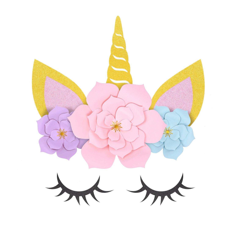 ORIENTAL CHERRY Unicorn Party Supplies \u0026 Decorations Backdrop For Girls  Birthday Party Baby Shower , DIY Unicorn Flower Backdrop