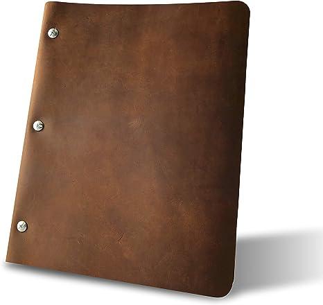 Amazon.com: Murdy No. 1 carpeta de tres postes de piel ...