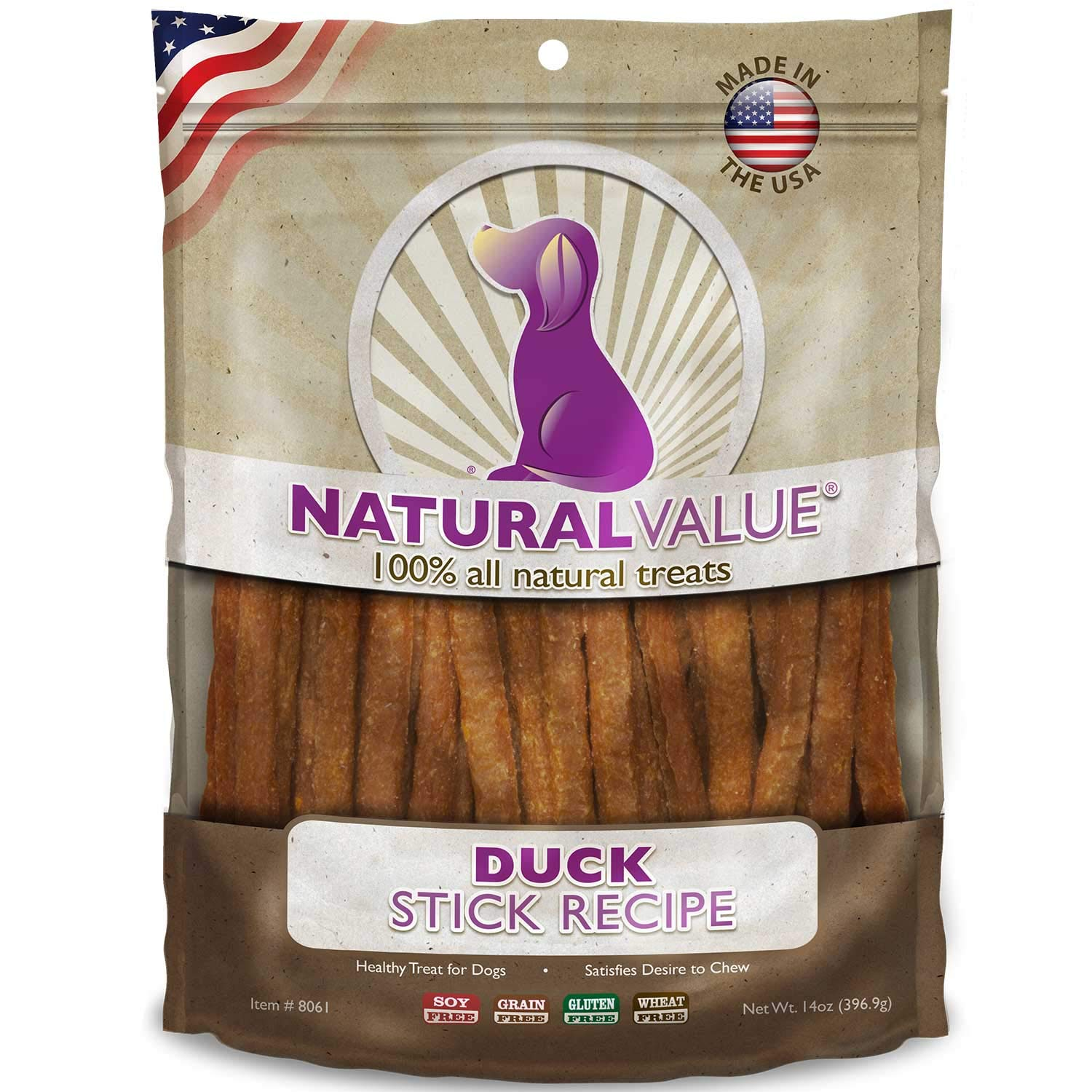 Loving Pets Natural Value All Natural Soft Chew Duck Sticks For Dogs, 14-Ounce by Loving Pets