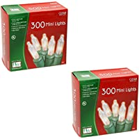Noma/Inliten Holiday W/land Clear Christmas Mini Light Set, 300 Count
