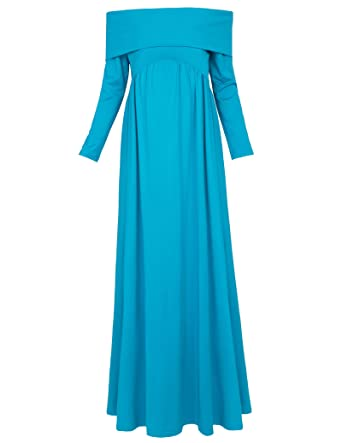 6dffda5b575a Kate Kasin Women Maternity Off The Shoulder Long Dresses at Amazon ...