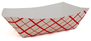 Southern Champion Tray 0433 #1000 Southland Paperboard Red Check Food Tray, 10 lb Capacity (Case of 250)