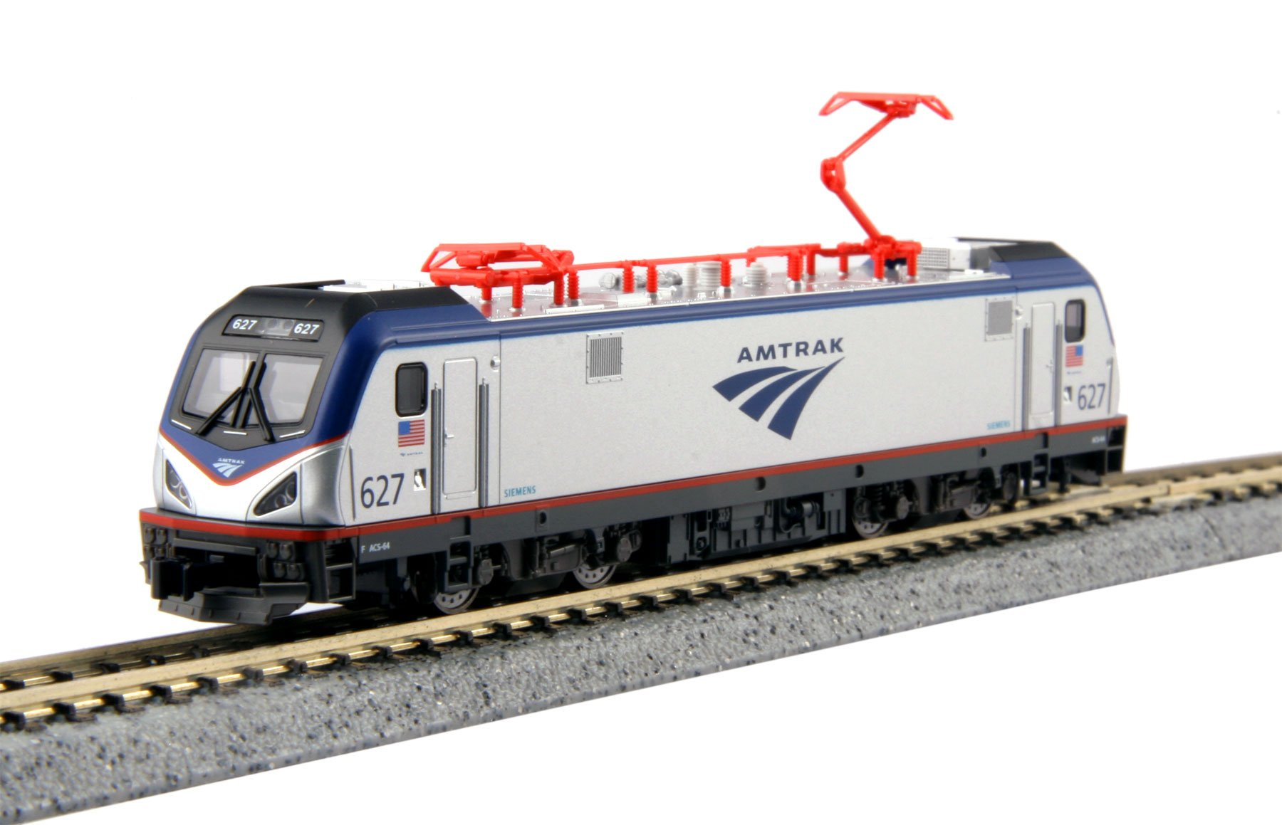 Kato 137-3002-DCC N Scale AMTRACK ACS-64 #627 w/DCC