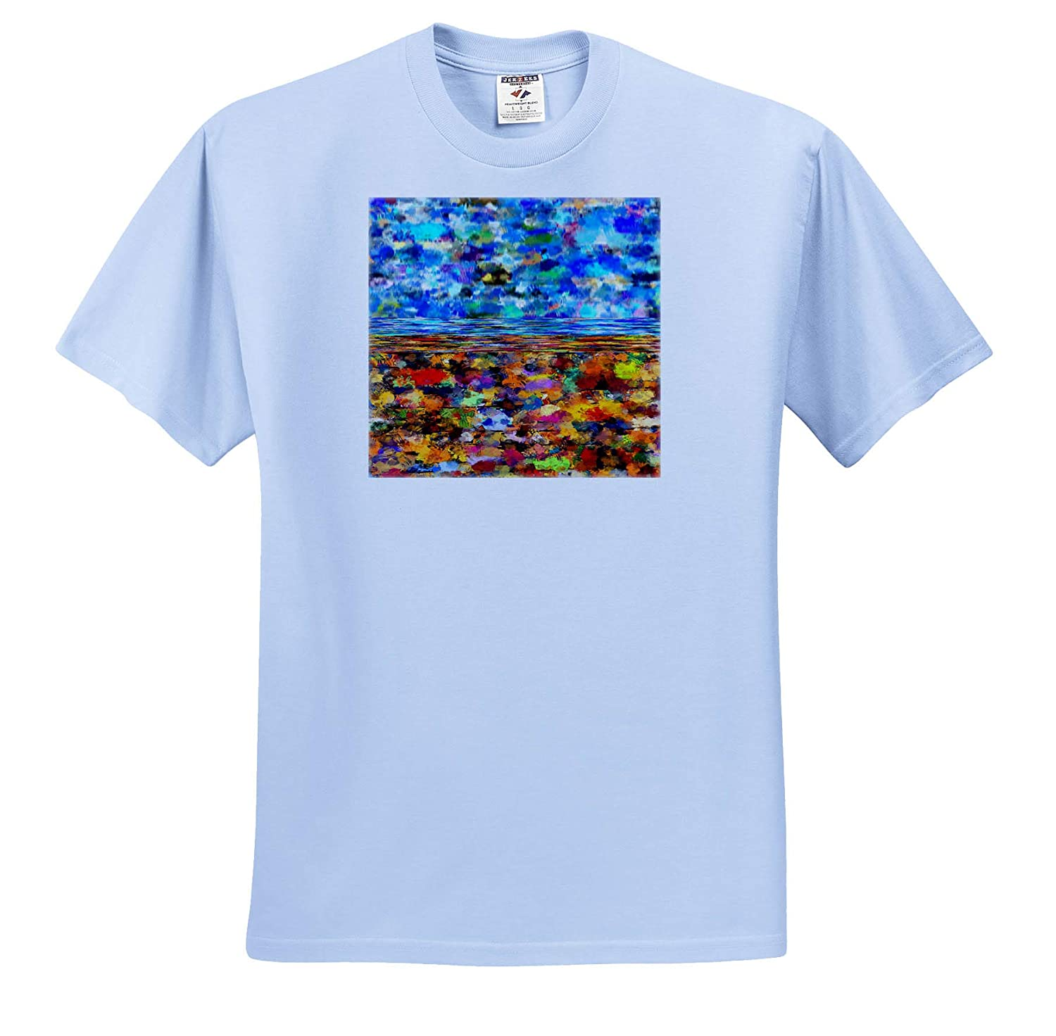 T-Shirts 3dRose Lens Art by Florene Image of Multicolor Three D Painted Pattern Three D Abstract Design