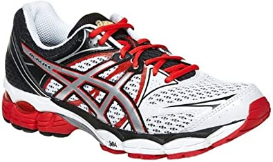 Asics Gel-Pulse 6 Mens Running Shoes White/Silver/Red, T4A3N 0193, 50.5 EU: Amazon.es: Zapatos y complementos
