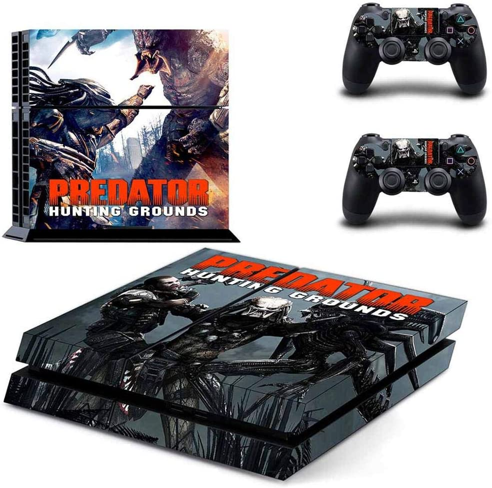 Playstation 4 Skin Set – Hunting Grounds - HD Printing Vinyl Skin Cover Protective for PS4 Console and 2 PS4 Controller by okanhyeu