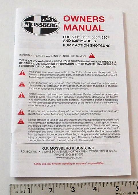 amazon com mossberg owners manual model 500 505 535 590 rh amazon com mossberg 835 user manual mossberg 835 user manual