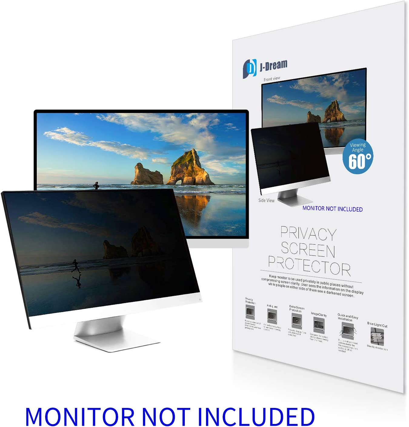 24 Inch Privacy Screen Filter for Widescreen Monitor (16:9 Aspect Ratio) - Please Measure Carefully!