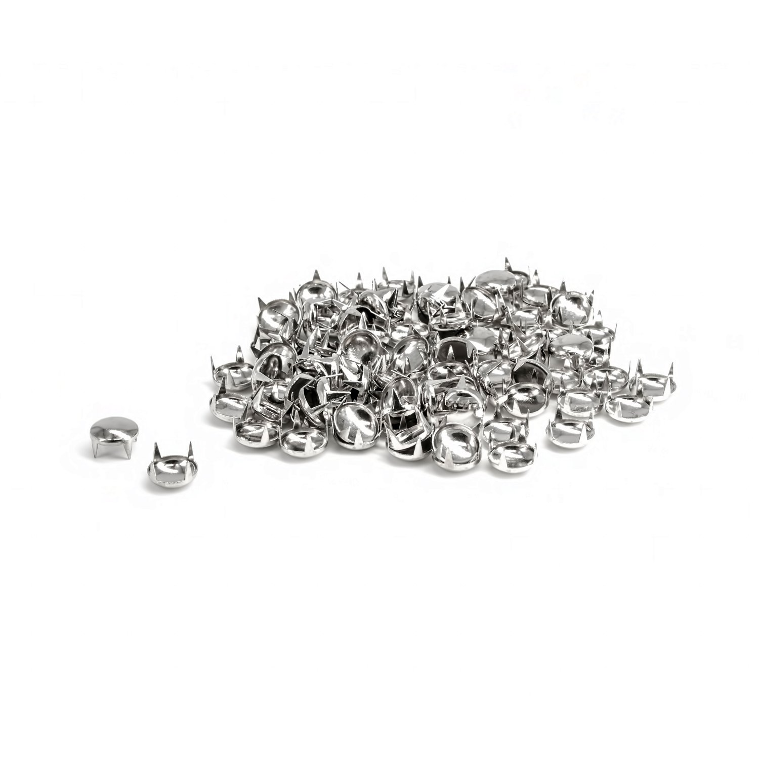 7ecdc4778e 500 x 5mm Silver Studs for Fabric and Leather Crafts - Round Dome Head Stud  - Decorative Accessory for Jeans