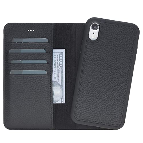 discount fed84 ae426 Amazon.com: iPhone XR Personalized Leather Wallet Case, Magnetic ...