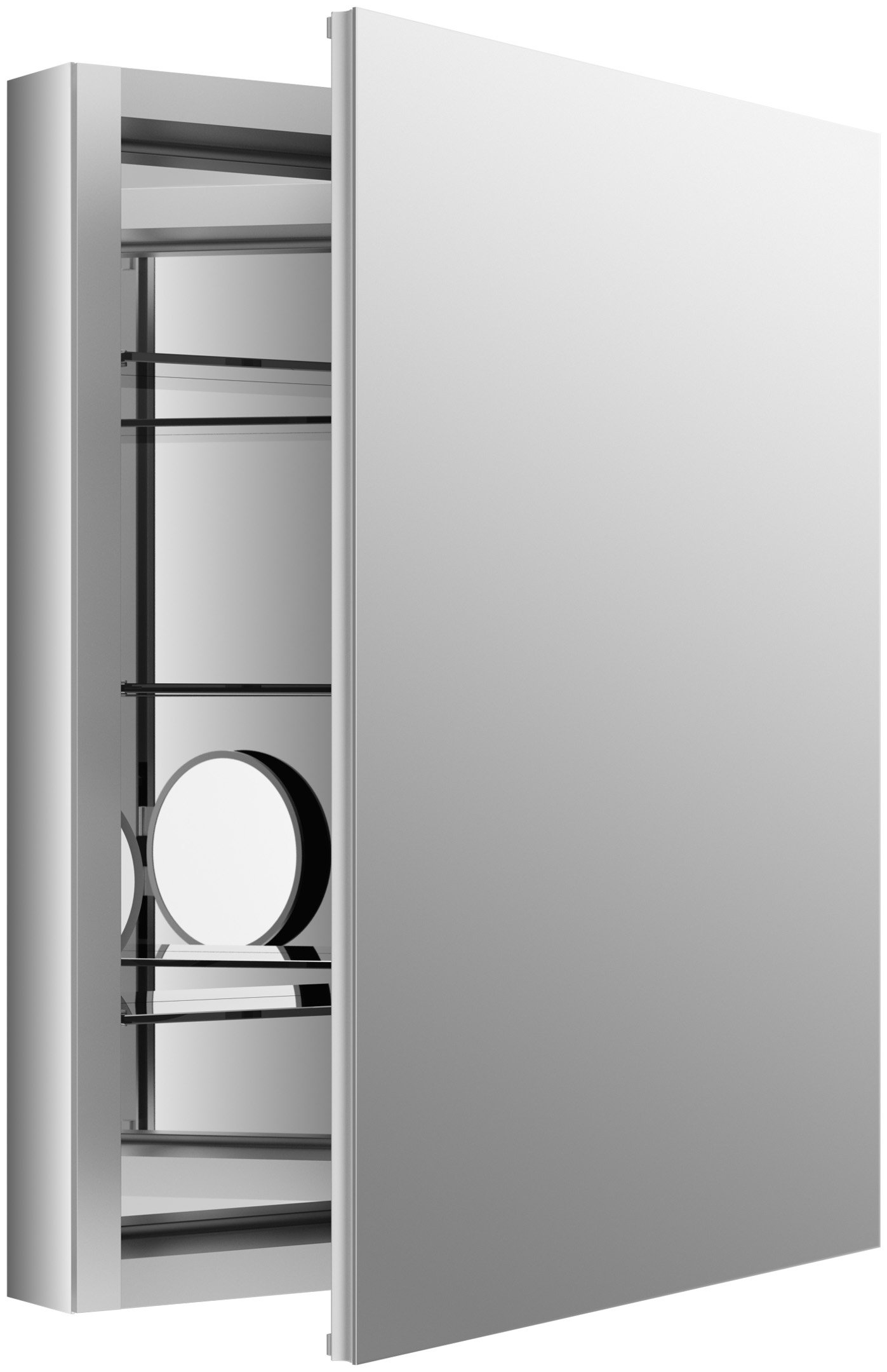 KOHLER K-99007-NA Verdera 24-Inch By 30-Inch Slow-Close Medicine Cabinet With Magnifying Mirror by Kohler