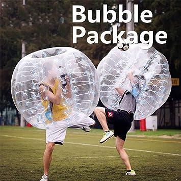 L&WB Pelota De Fútbol Inflable con Forma De Bola Y Balón De Fútbol Que Explota El Juguete En 5 Min. Bolas De Burbuja Inflables para Adultos O Niños: Amazon.es: Deportes y aire
