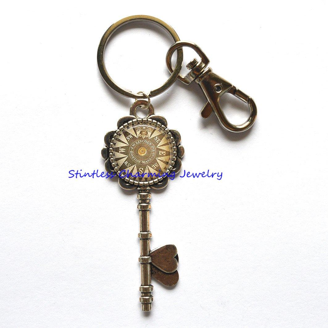 Brújula llavero náutico de, joyas, brújula clave Anillo ...