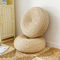 Flameer Eco-Friendly Breathable Padded Knitted Seat Cushion Straw Futon Floor Seat